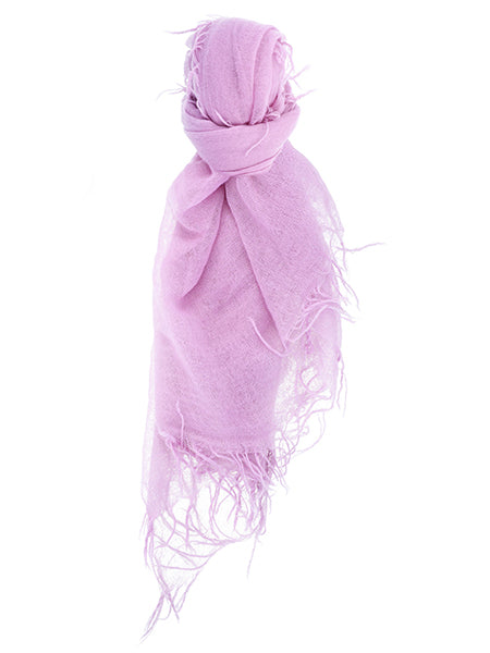 Pink Lavender Cashmere and Silk Scarf