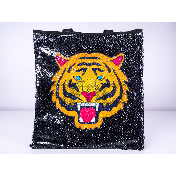 Magic Sequin Tiger/Fierce Reveal Tote Bag