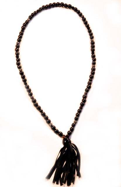 Stormy Weather Suede Tassle Long Necklace