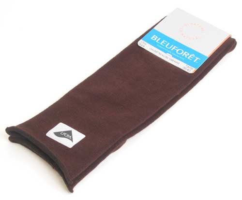 Velvet Combed Cotton Kneehighs - Brown