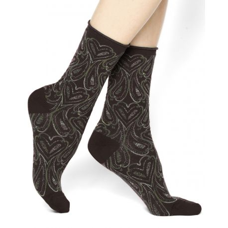 Velvet Combed Cotton Socks - Cashmere