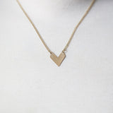 Small Brass V Necklace