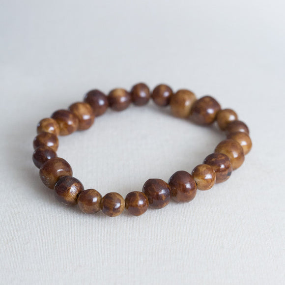 Light Brown Single Strand Bone Bracelet