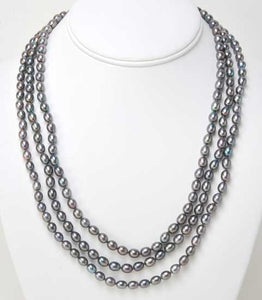 Genuine Grey Pearls - Four In One Necklace