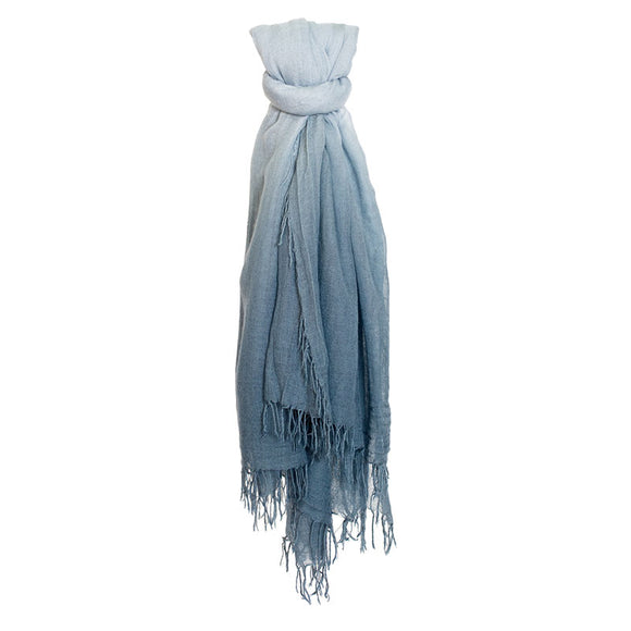 Blue Mirage/Dusty Blue Cashmere & Silk Scarf