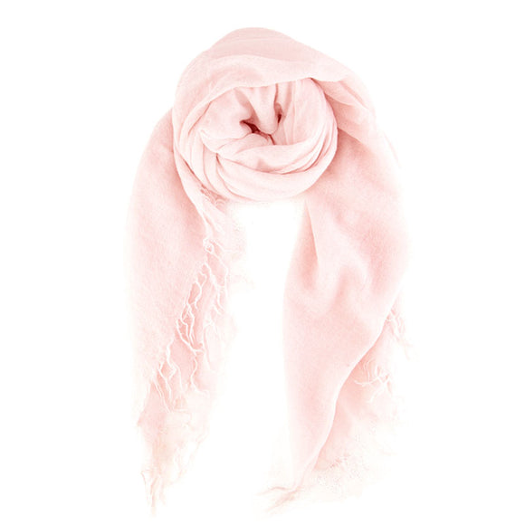 Mauve Chalk Cashmere and Silk Scarf