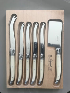 Laguiole 6-pieces Cheese Knives