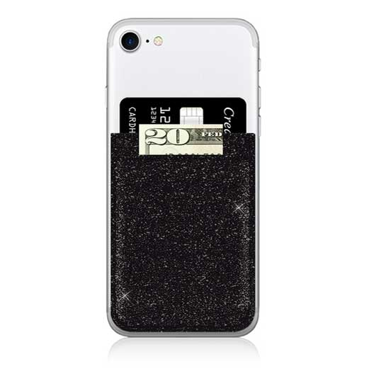 iDecoz Phone Pocket - Black Glitter
