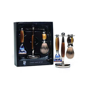 3 piece Shaving Set - Brown