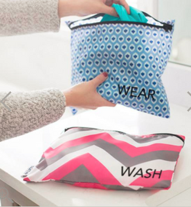 Wash & Wear Clean Bags - Crosby/Aqua Ikat