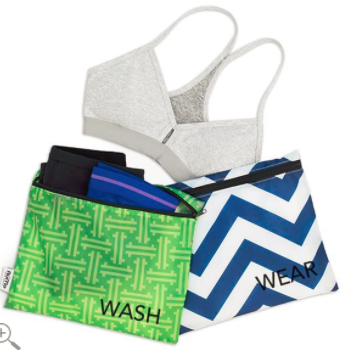 Wash & Wear Clean Bags - Spring Greenwich / Navy Crosby