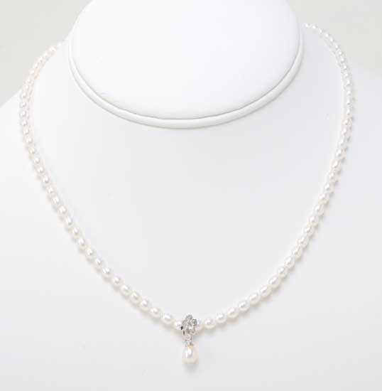 Freshwater Pearl with Sterling Silver Necklace