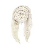 Eggshell Cashmere and Silk Scarf