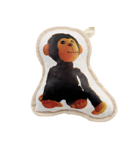 Recycled Canvas Monkey Dog Toy