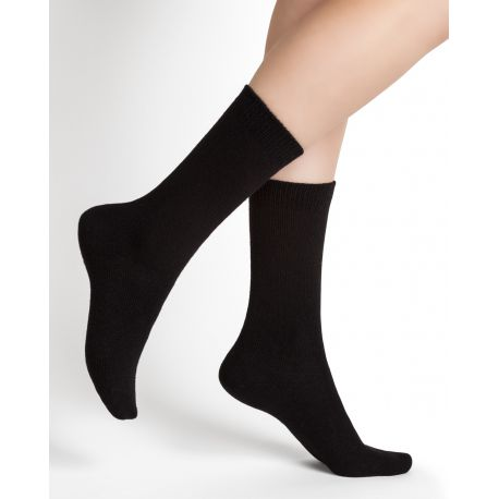 Wool & Cashmere Women Sock - Black