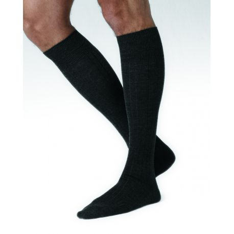 Merino Wool Dark Grey Knee-high Socks
