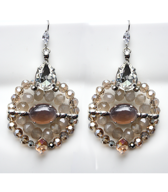 Renee Crystal and Stone Earrings