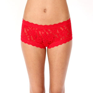 Hanky Panky Stretch Lace Boy Short - Red