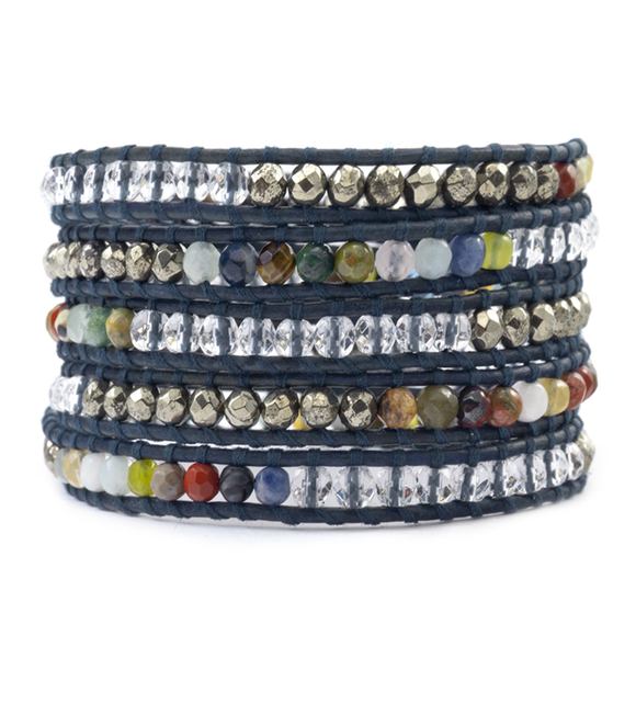 Multi Stone Mix Wrap Bracelet