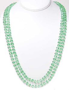 Ultra Long Green Crystal Necklace