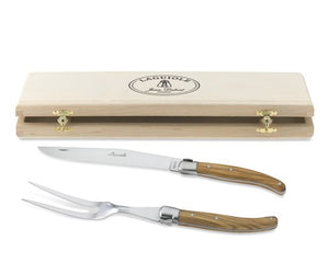 Laguiole Carving Set in Wooden Box