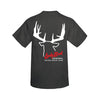 Lucky Buck Charcoal Heather T-Shirt with 12 Point Typical Buck Screen Print
