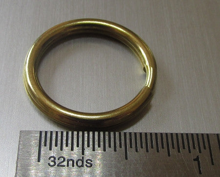 .875 Brass Split Ring