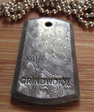 Damascus Dog Tag