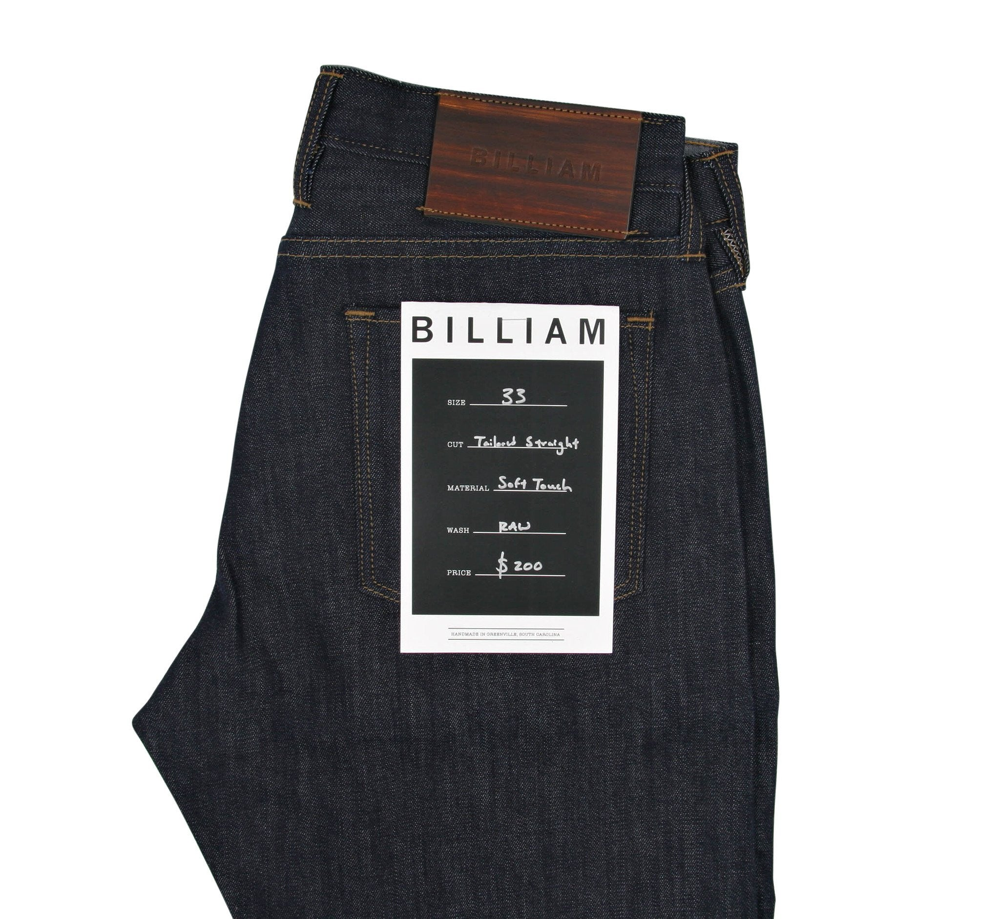 Billiam Tailored Straight Jean, Soft Touch Stretch Denim