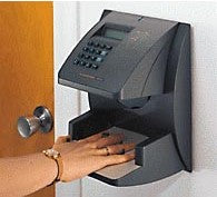 HANDPUNCH 1000 RECOGNITION SYSTEMS BIOMETRIC HAND PUNCH TIME RECORDER TIME CLOCK (RSI/SCHLAGE)