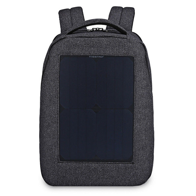 Water-resistant 21L Leisure Backpack Solar Panel