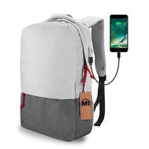 External USB Charge Laptop Backpack Waterproof