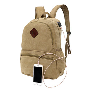 Fashion Backpack External Charge USB