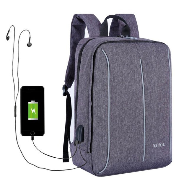 "15.6"" laptop backpack with usb charge"