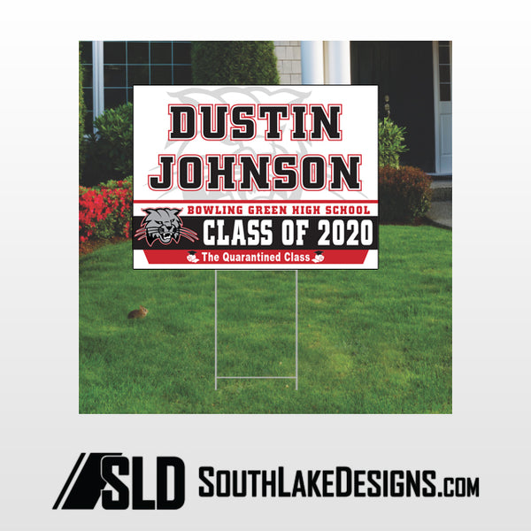 BOWLING GREEN CLASS OF 2020 PERSONALIZED YARD SIGN