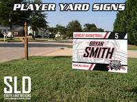 CUSTOMIZABLE PLAYER YARD SIGNS