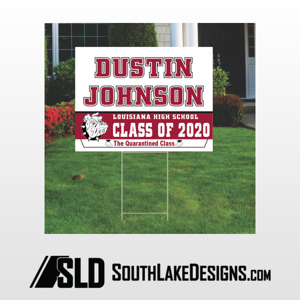 LOUISIANA CLASS OF 2020 PERSONALIZED YARD SIGN