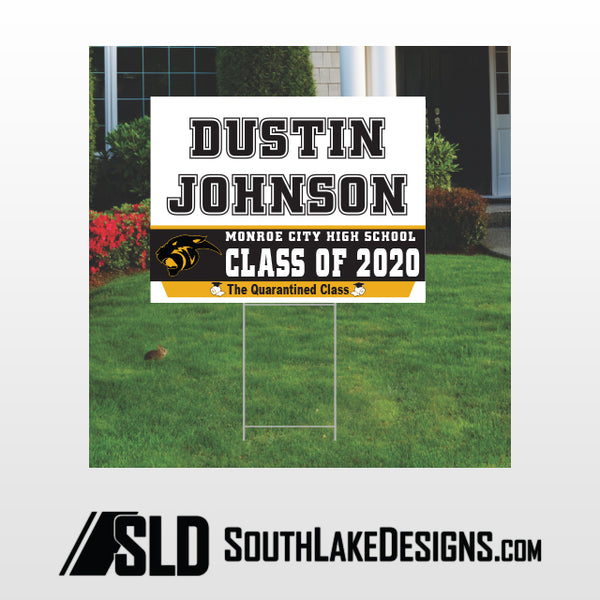 MONROE CITY CLASS OF 2020 PERSONALIZED YARD SIGN