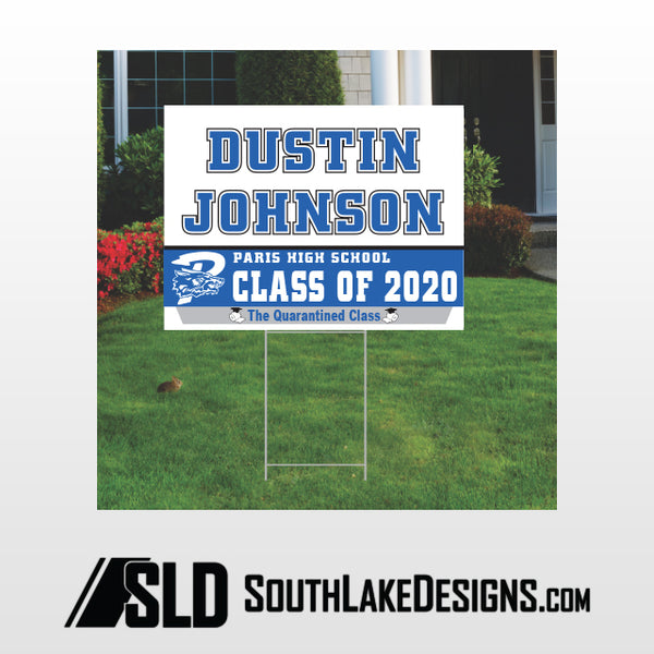 PARIS CLASS OF 2020 PERSONALIZED YARD SIGN