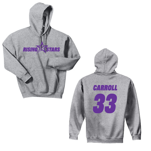 RISING STARS PERSONALIZED HOODED SWEATSHIRT
