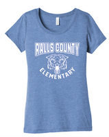 LADIES BELLA CANVAS TRI-BLEND - RALLS CO. ELEMENTARY