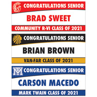 PERSONALIZED GRADUATION BANNER - 2' X 5'