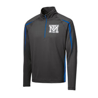 Mark Twain Tigers 1/2-Zip Colorblock Pullover.