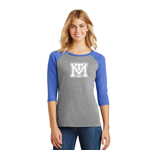Mark Twain Ladies Perfect Tri® 3/4-Sleeve Raglan