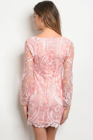 Pinky |  Sequins Detail Dress