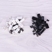 WEEKLY DEAL - 10pcs/ Sets 4 in 1 DIY Micro USB Welding Type Male 5 Pin Plug Connector w/Plastic Cover white/black