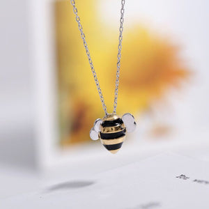 WEEKLY DEAL - Cute Little Bee 925 Sterling Silver Necklace and Pendant