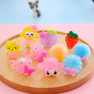 WEEKLY DEAL - 5pc/set Luminous Rings New Children's Toys Flash Gifts