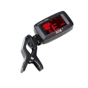 WEEKLY DEAL - Aroma AT-200D High Quality Clip On Guitar Tuner Portable Universal Digital Tuner for Chromatic Guitar Bass Ukulele Violin