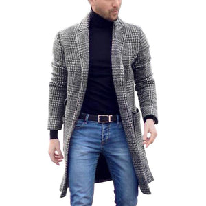 WEEKLY DEAL - Men's Premium Wool Blend Overcoat